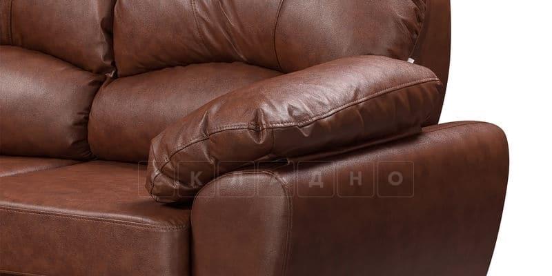 Диван угловой Эвита кожаный коричневый правый угол фото 7 | интернет-магазин Складно