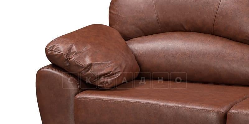 Диван угловой Эвита кожаный коричневый правый угол фото 6 | интернет-магазин Складно
