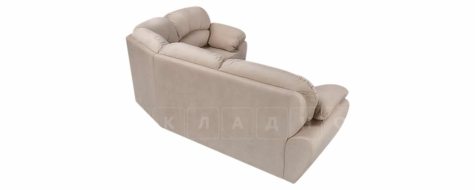 Угловой диван Эвита велюр бежевый правый угол фото 3 | интернет-магазин Складно