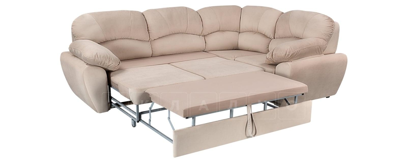 Угловой диван Эвита велюр бежевый правый угол фото 4 | интернет-магазин Складно