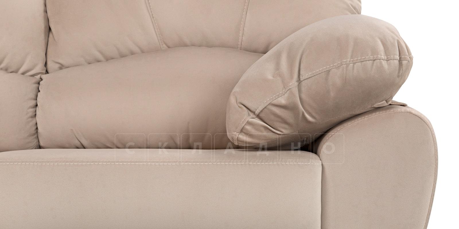 Угловой диван Эвита велюр бежевый правый угол фото 6 | интернет-магазин Складно