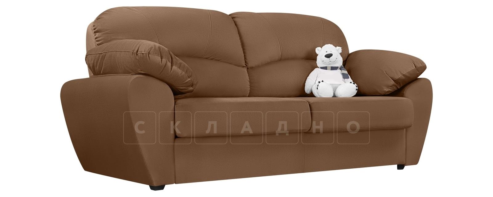 Диван Эвита велюр коричневого цвета фото 1 | интернет-магазин Складно