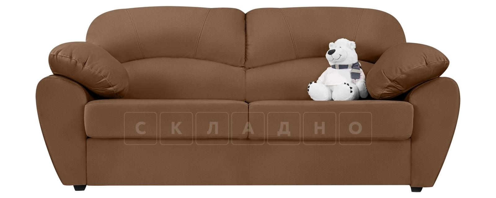 Диван Эвита велюр коричневого цвета фото 2 | интернет-магазин Складно
