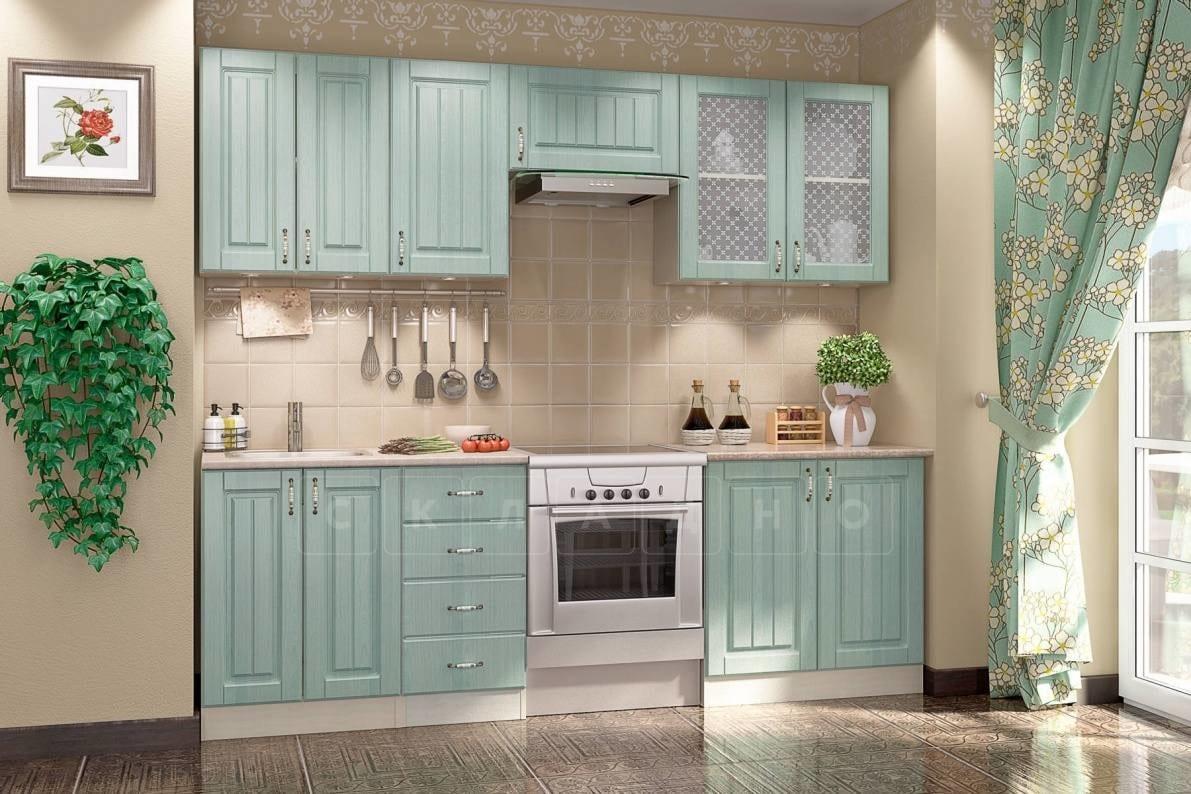 Кухонный гарнитур Изабелла 2,4 м ясень зеленый фото 1 | интернет-магазин Складно