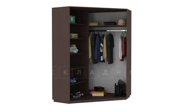 Угловой шкаф-купе двери с зеркалом экокожа фото 2 | интернет-магазин Складно