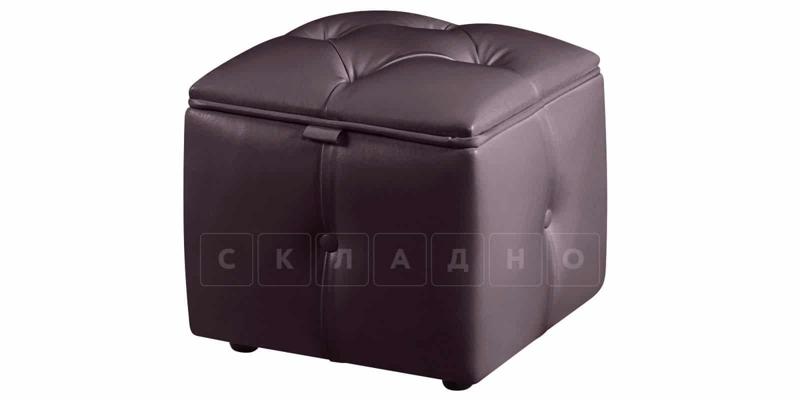 Пуф Малибу кубик шоколадного цвета фото 1   интернет-магазин Складно