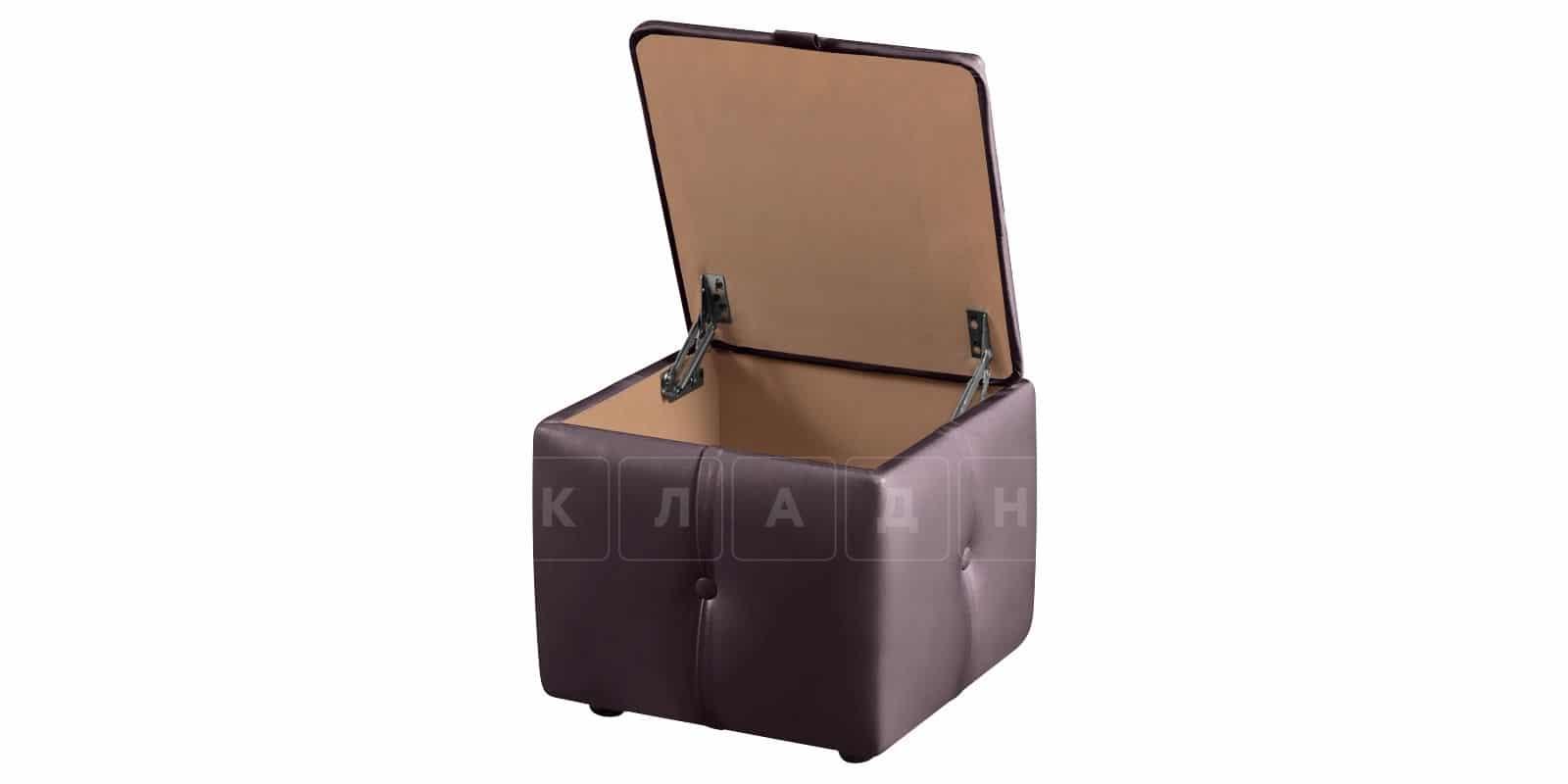Пуф Малибу кубик шоколадного цвета фото 4   интернет-магазин Складно