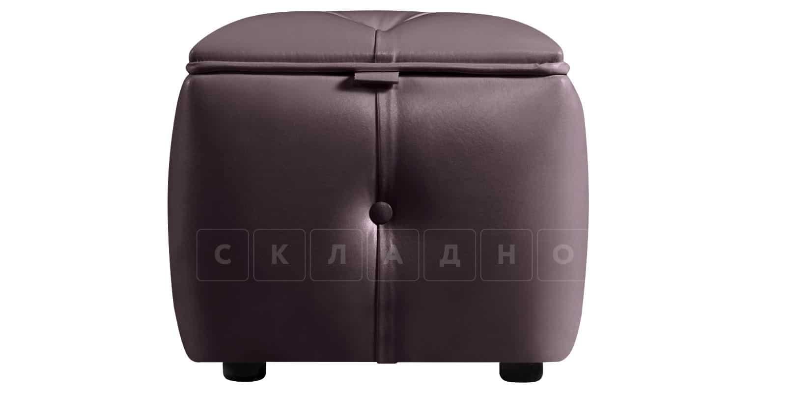 Пуф Малибу кубик шоколадного цвета фото 3   интернет-магазин Складно