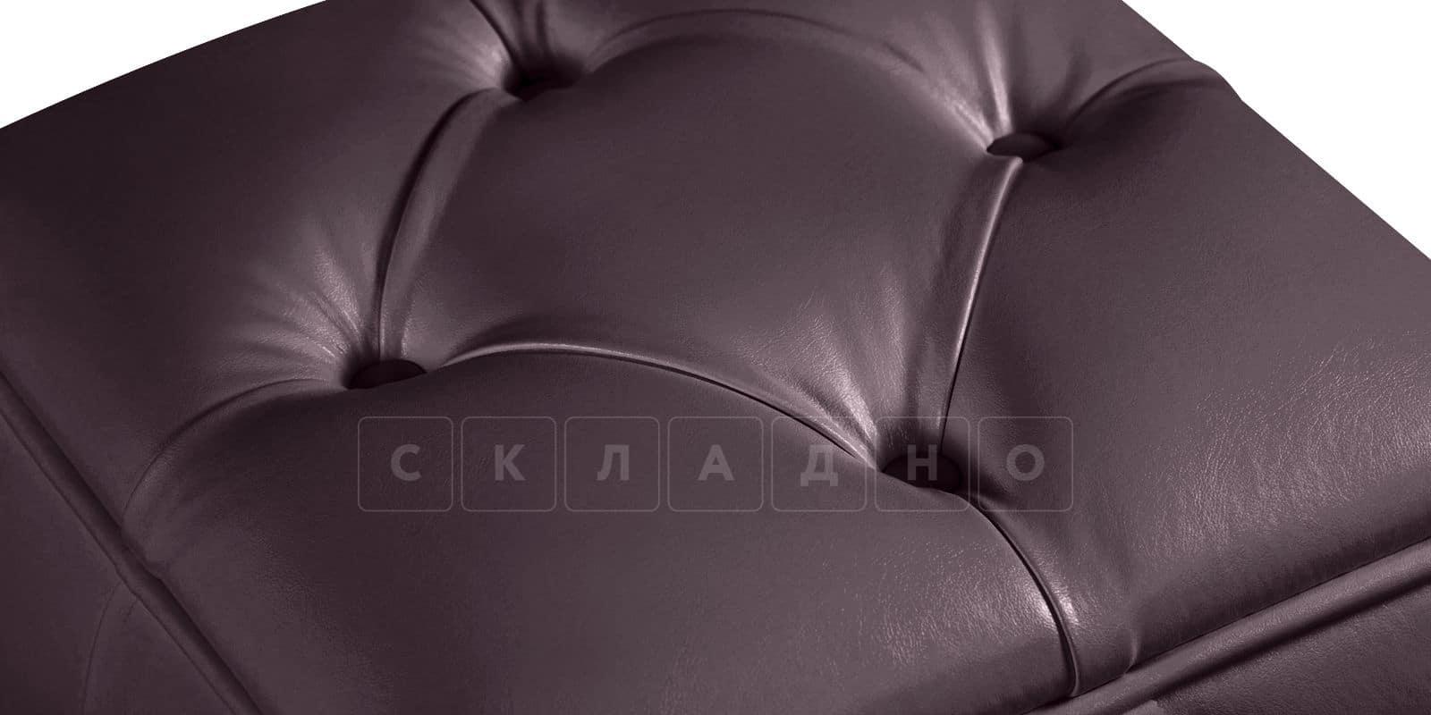Пуф Малибу кубик шоколадного цвета фото 2   интернет-магазин Складно
