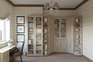 Библиотека Гарун-К вариант 6 дуб сонома фото | интернет-магазин Складно