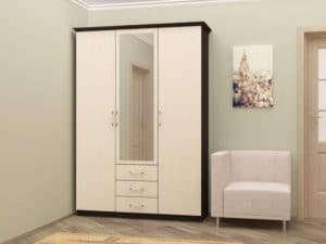 Шкаф трехстворчатый 150 см с 3-я ящиками  16210  рублей, фото 1 | интернет-магазин Складно