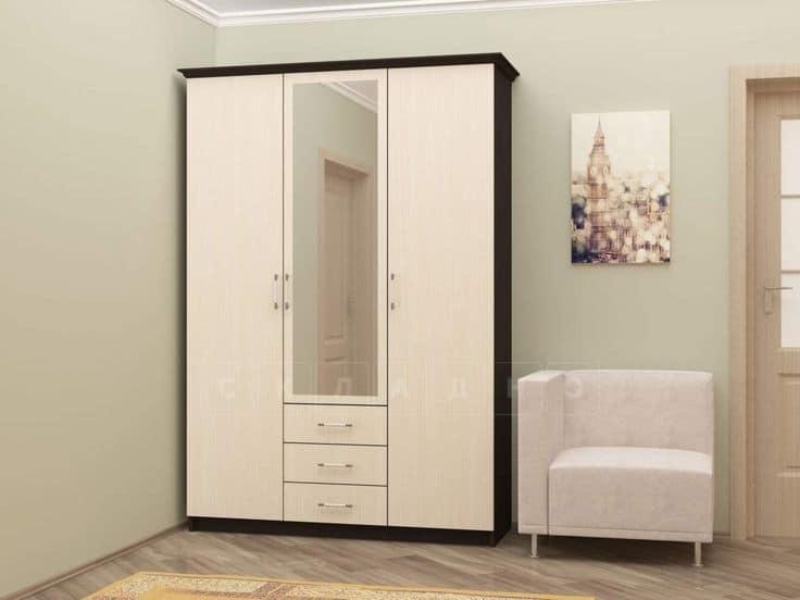 Шкаф трехстворчатый 150 см с 3-я ящиками фото 1 | интернет-магазин Складно