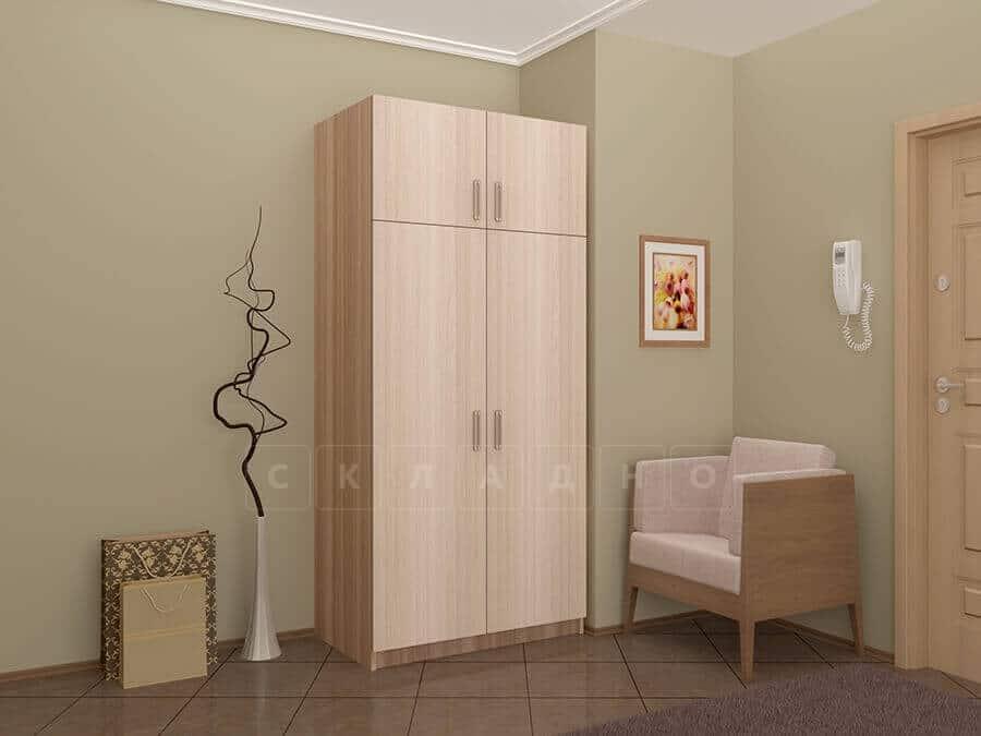 Шкаф двухстворчатый 900мм со штангой и полками фото 1 | интернет-магазин Складно