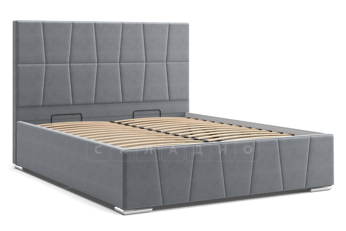 Кровать с подъемным механизмом Пассаж 180см серая фото 3 | интернет-магазин Складно