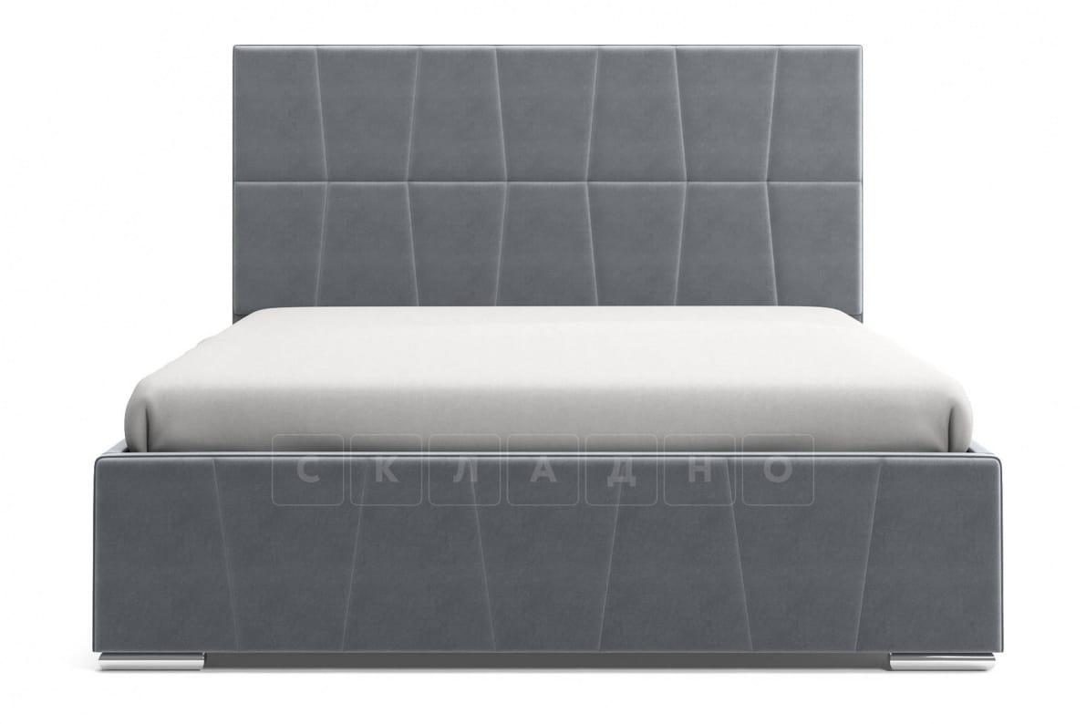 Кровать с подъемным механизмом Пассаж 180см серая фото 4 | интернет-магазин Складно