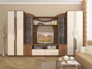 Стенка Гамма-15 с гнутыми стеклами 24830 рублей, фото 3 | интернет-магазин Складно