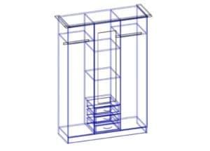 Шкаф трехстворчатый 150 см с 3-я ящиками 16210 рублей, фото 2 | интернет-магазин Складно