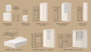 Спальный гарнитур Карина-7 47290 рублей, фото 3 | интернет-магазин Складно