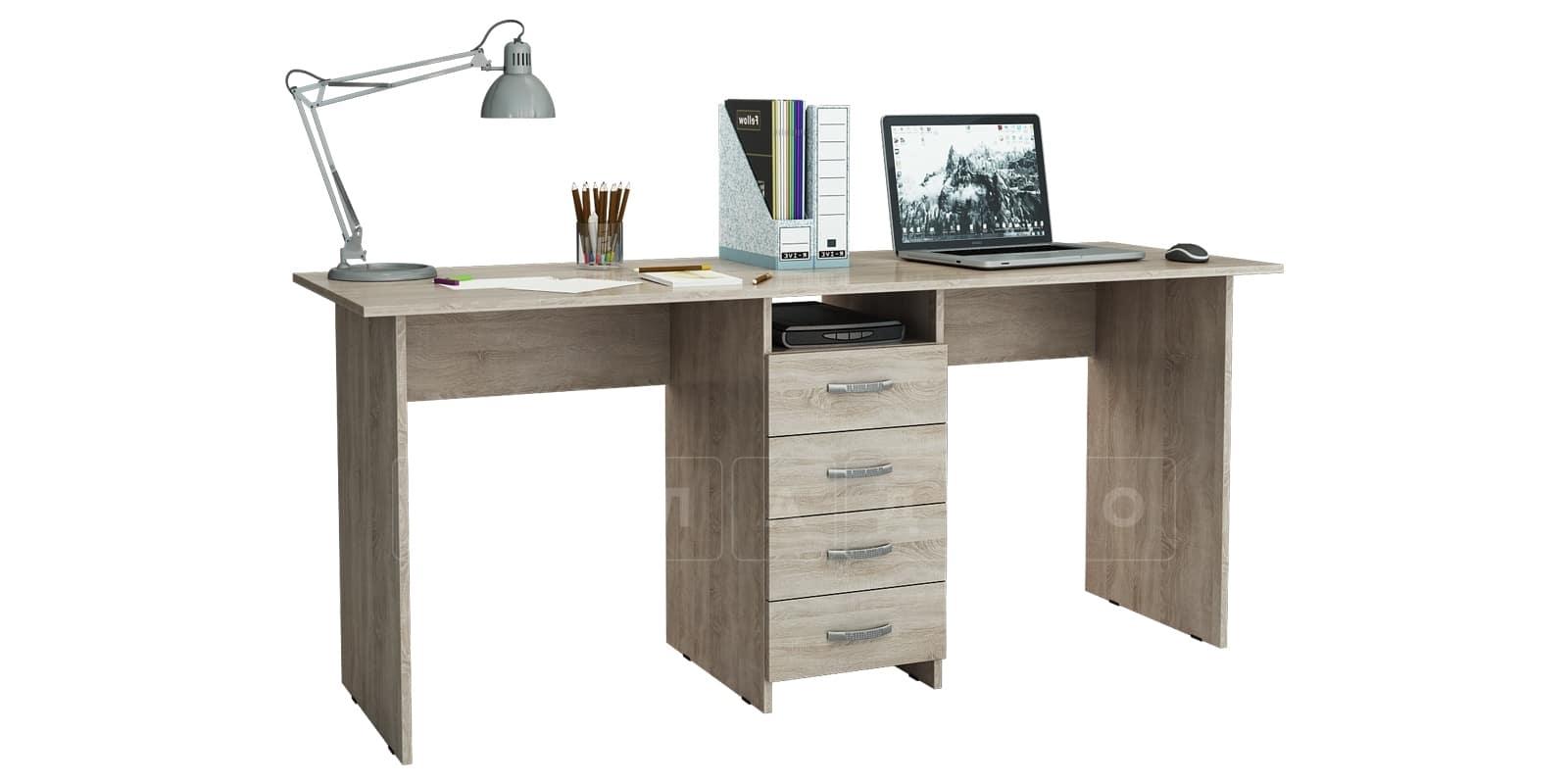 Офисный стол Кейптаун 4 ящика фото 3 | интернет-магазин Складно