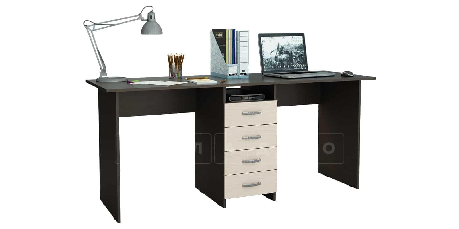Офисный стол Кейптаун 4 ящика фото 2 | интернет-магазин Складно