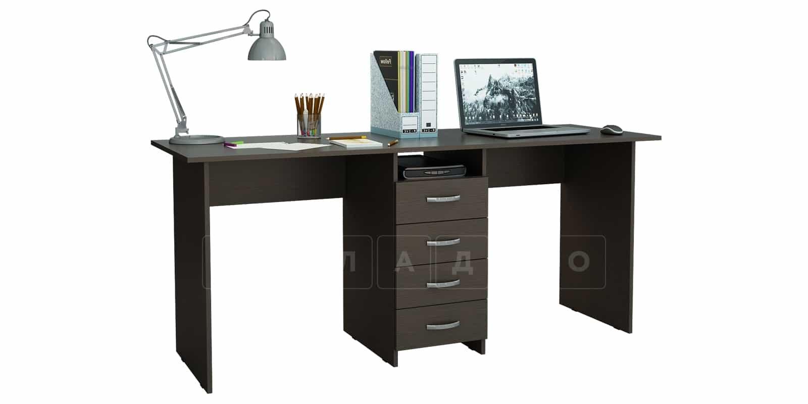 Офисный стол Кейптаун 4 ящика фото 1 | интернет-магазин Складно