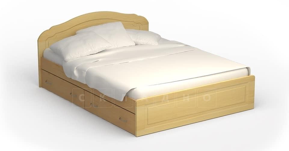 Кровать с ящиками Мила МДФ 140 см фото 1 | интернет-магазин Складно