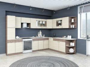 Кухня угловая Шимо 17 модулей фото | интернет-магазин Складно