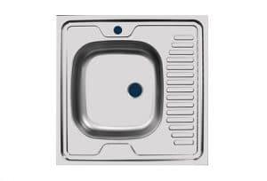 Кухонная мойка накладная металлическая 60 см S0,4х130 1150 рублей, фото 2   интернет-магазин Складно