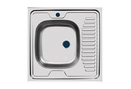 Кухонная мойка накладная металлическая 60 см S0,4х130 фото 2   интернет-магазин Складно