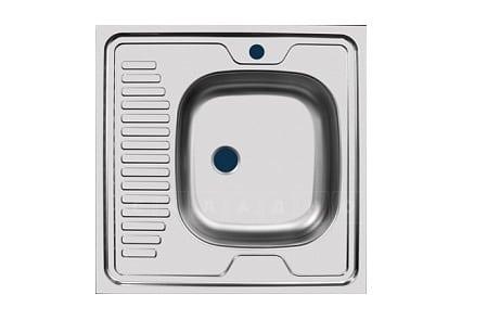 Кухонная мойка накладная металлическая 60 см S0,4х130 фото 1   интернет-магазин Складно