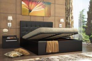 Кровать с подъемным механизмом Находка 160 см черного цвета 19750 рублей, фото 2 | интернет-магазин Складно