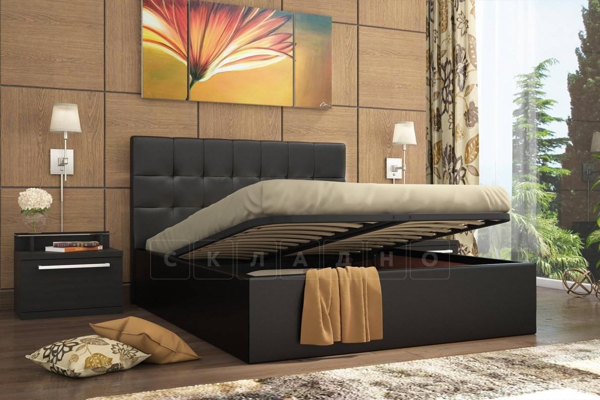 Кровать с подъемным механизмом Находка 160 см черного цвета фото 2 | интернет-магазин Складно