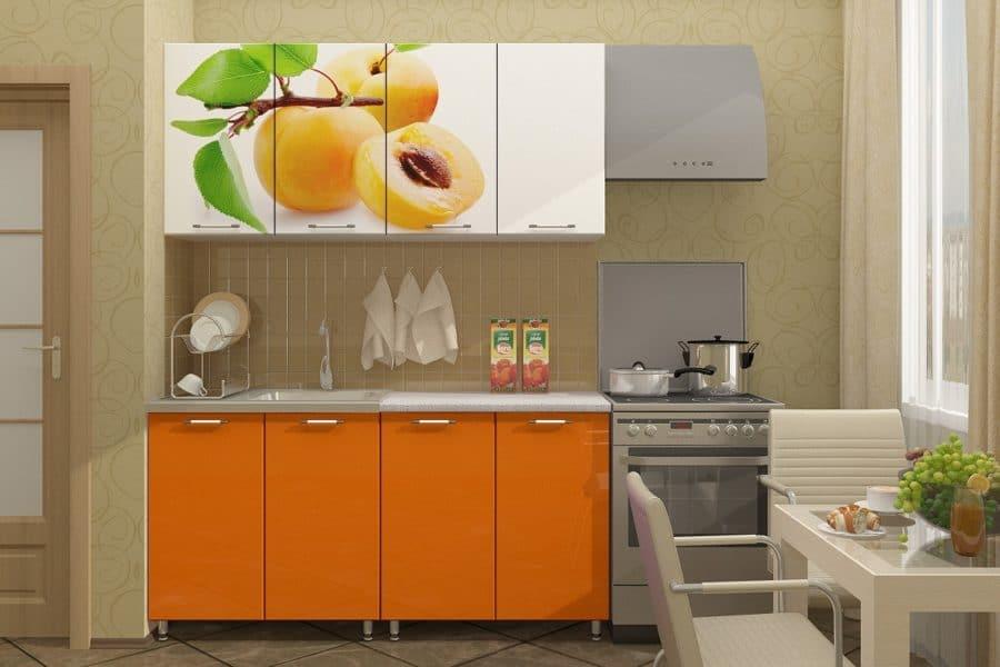 Кухонный гарнитур Персик 1,6м фото | интернет-магазин Складно