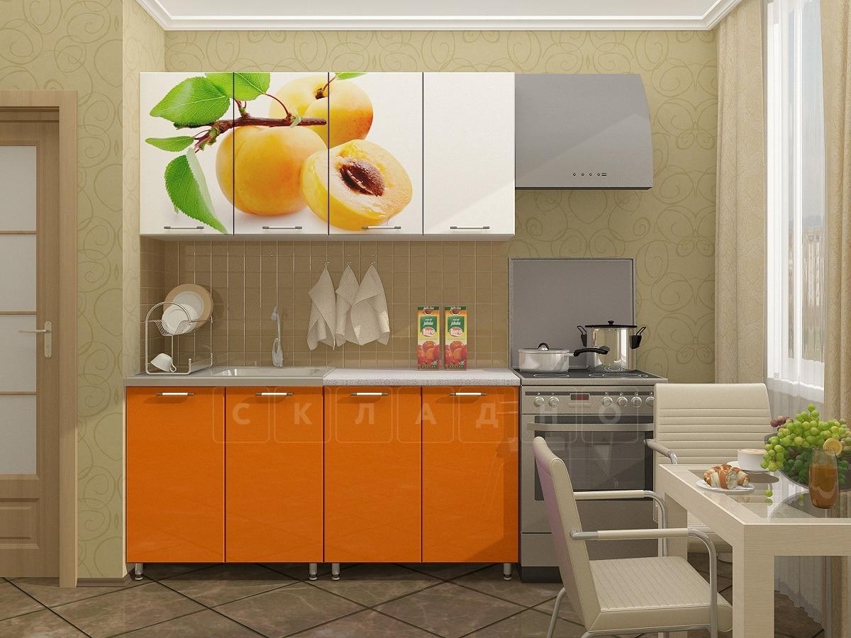 Кухня с фотопечатью Персик 160 см фото 1 | интернет-магазин Складно