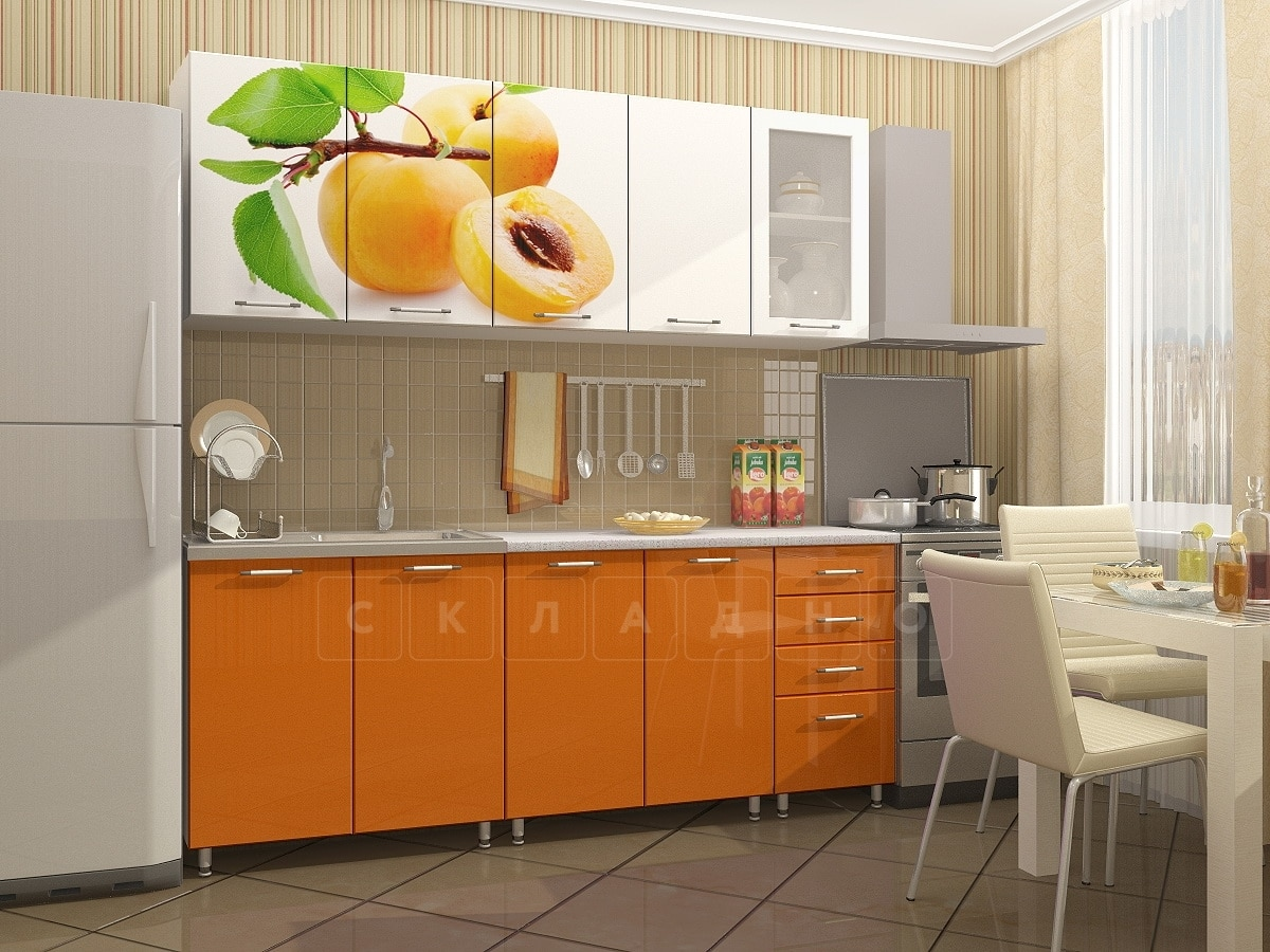 Кухонный гарнитур Персик 2,0 м фото 1 | интернет-магазин Складно