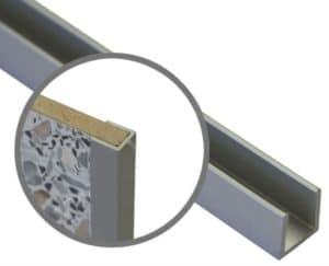 Торцевая планка для стеновой панели t-6мм фото | интернет-магазин Складно