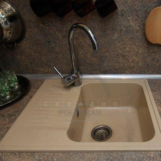 Кухонная мойка POLYGRAN F-07 из искусственного камня 61х50 см с одной чашей фото 12 | интернет-магазин Складно