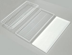 Сушилка для посуды эмаль 565 белый фото | интернет-магазин Складно