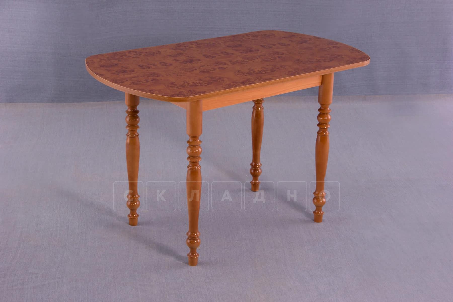 Обеденный стол прямоугольный на резных ножках 100х60 фото 2 | интернет-магазин Складно