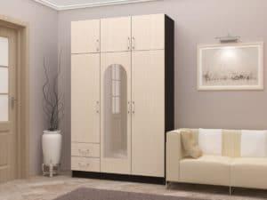 Шкаф трехстворчатый 130 см с 2-я ящиками  8950  рублей, фото 1 | интернет-магазин Складно