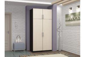 Шкаф двухстворчатый 900мм со штангой фото | интернет-магазин Складно