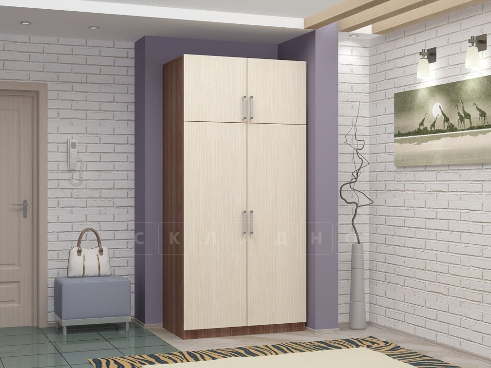 Шкаф двустворчатый 900 мм со штангой фото 3 | интернет-магазин Складно