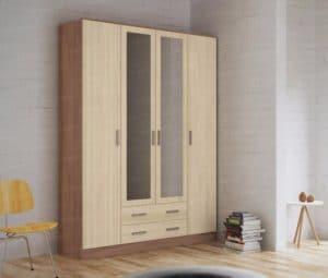 Шкаф распашной Фиеста с 2-я ящиками 160 см  9840  рублей, фото 1 | интернет-магазин Складно