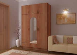 Шкаф трехстворчатый 130 см с 2-я ящиками 8950 рублей, фото 2 | интернет-магазин Складно