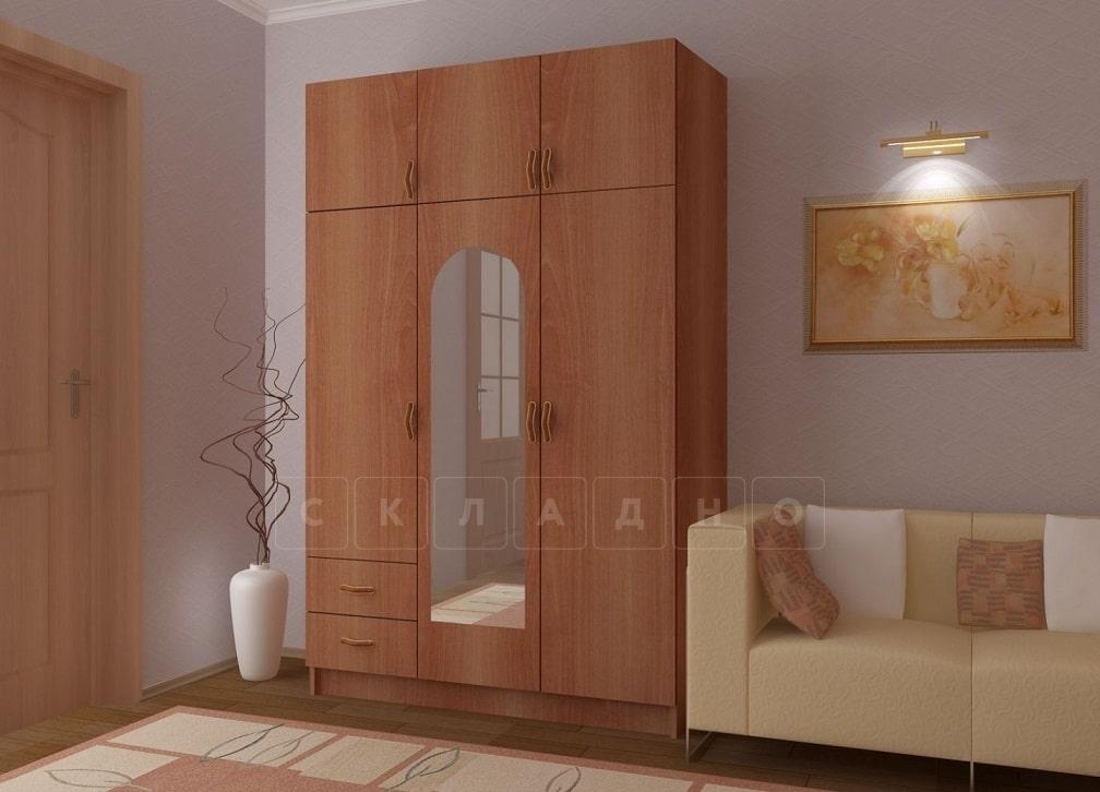 Шкаф трехстворчатый 130 см с 2-я ящиками фото 2 | интернет-магазин Складно