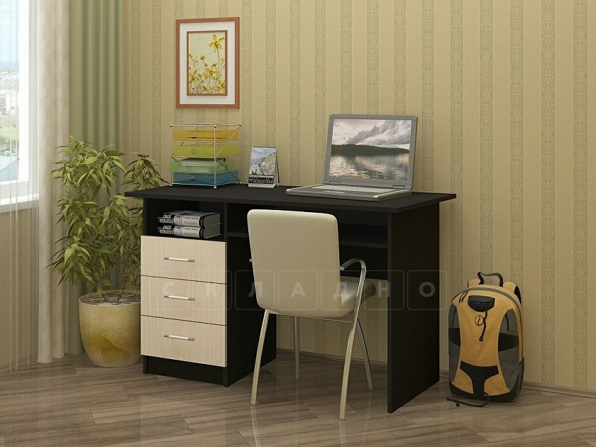 Письменный стол ПС-02 с ящиками фото 1 | интернет-магазин Складно