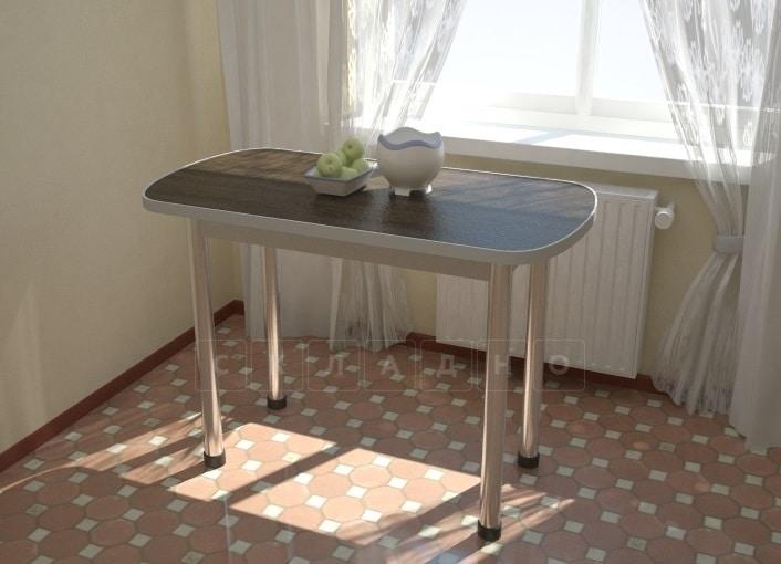Стол обеденный на хромированных ножках столешница 28мм фото 1 | интернет-магазин Складно