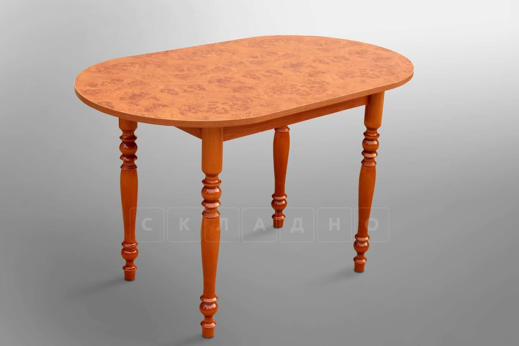 Обеденный стол овальный на резных ножках 120х70 фото 1 | интернет-магазин Складно