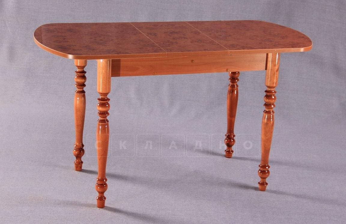 Обеденный раздвижной стол овальный на резных ножках 150х70 фото 1 | интернет-магазин Складно