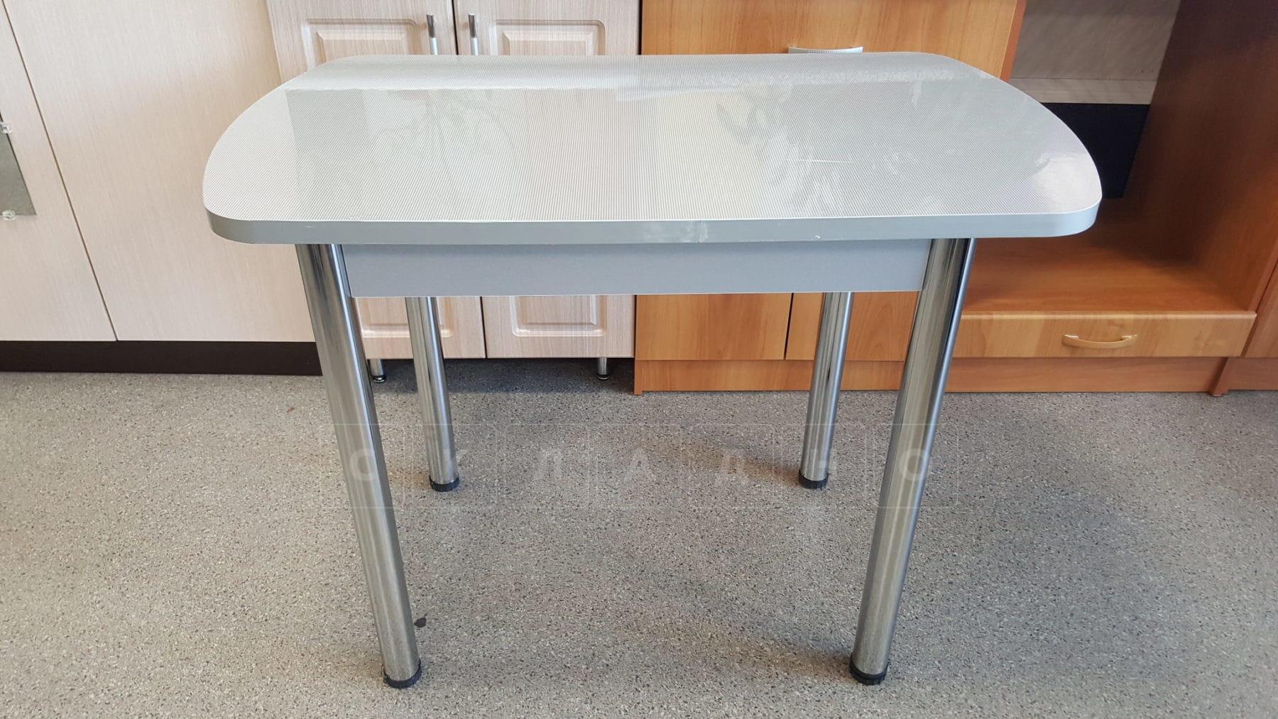 Стол обеденный на хромированных ножках столешница 28мм фото 2 | интернет-магазин Складно